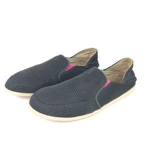 Olukai Waialua Mesh Gray Loafers Slip On Shoe 6.5